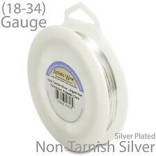 Silver Artistic Wire Tarnish Resistant Silver Plate Craft Wire -1/4LB Spool
