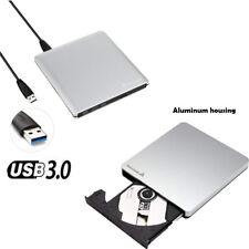 USB 3.0 Externes DVD Laufwerk DVD/CD Brenner Alu 9,5mm/ 12,7mm für Notebook