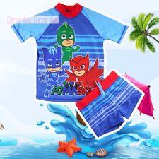 PJ Masks boys swimmer suit bather swimwear pool beach swim top trunk size 3-7