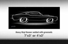BIG BANNER 1968 1969 Torino Fairlane Cobra Falcon Art Ford '68 '69