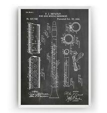 Clarinet 1894 Patent Print Poster Music Student Art Decor Gift - Unframed