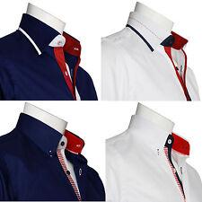 """Camisa para hombre de diseñador italiano Vestido Formal para Hombres Camisas de Lujo informal 14.5"""" a 18"""""""
