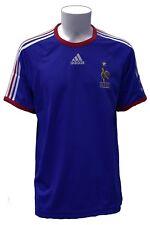 T-Shirt da calcio uomo Adidas blu Francia nazionale sport maglia manica corta