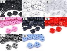 Mini-Kordelstopper mit 2 Löchern - 15x15mm - Farbauswahl - Öffnung: bis 3mm