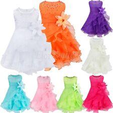 Blumenmädchen Kleid Baby Mädchen Kind Festkleid Hochzeit Taufe k Kommunionkleid