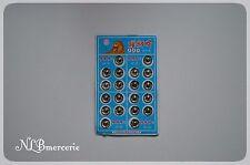 Bouton pression métallique lot de 20 - diamètre 11 mm coloris noir ou gris