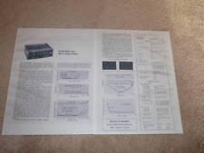 Harman Kardon 520 Receiver Review, 1968, 2 pgs, Specs