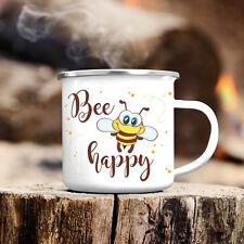 Campingbecher Biene Bee Happy CB143 Punkte lustig Reise Kaffee Tee