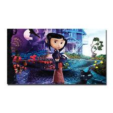 Coraline Cartoon Movie Silk Fabric Poster Canvas Art Print 12x21 24x43 inch