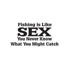 Fishing Like Sex STD Fish - Vinyl Decal - Multiple Color & Sizes - ebn1723