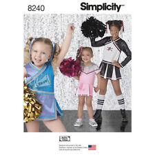 SIMPLICITY Child Girl CHEERLEADER Cheer Costume Sz 3-6 & 7-14 #8240 #0151