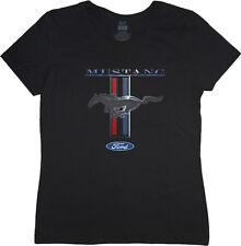 Ladies t-shirt Ford Mustang pony tri bar design women's size tee shirt