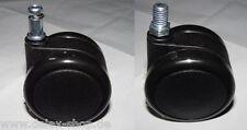 Ruedas de silla para suave Suelos 65 mm Rosca Tornillo de bloqueo Papel blando