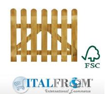 Wooden gate pine gate picket gate garden fence outdoor Italfrom