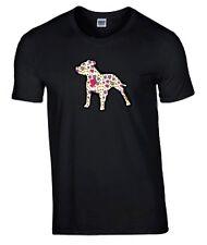 Staffordshire Bull Terrier Hearts Design Tshirt Black T-shirt Staffie Staffy Dog