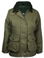 New Ladies Tweed Derby Wool Jacket Waterproof Breathable Warm All Seasons 8-22