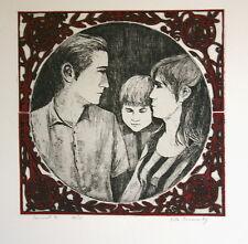 Etching by Rita BRIANSKY (1925- ) -  SONNET 3