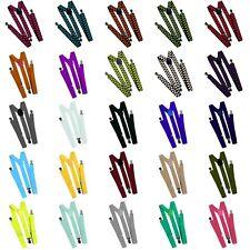 Hosenträger Herren Damen Jeans Retro Hosen Träger viele Farben und Muster 25mm