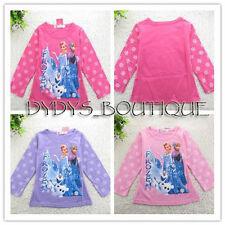 Frozen Long Sleeve T-shirts Children shirt Anna Elsa girls