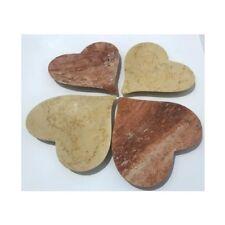 San Valentino - Centrotavola Cuore in pietra naturale travertino fatto a mano