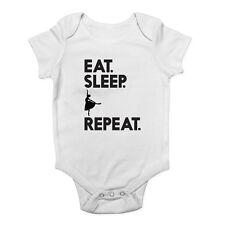 Eat Sleep Ballet Repeat Girls Dance Baby Grow Vest Bodysuit