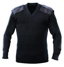 Jersey Liso Azul Oscuro Para Hombre S-XXL Militar Ejército Marina Suéter de las fuerzas de policía