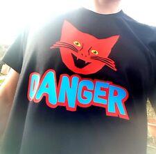 Peligro de gato Punk para Hombre Camiseta Alternativa Clem desgaste Tee comedia Bnwt Animal Divertido