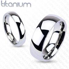 Glossy Mirror Polished Traditional Wedding Band Ring Solid Titanium Free Ship