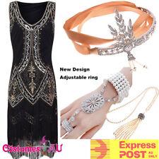 Deluxe Ladies 20s 1920s Roaring Flapper Costume Sequin Gatsby 20's Fancy Dress