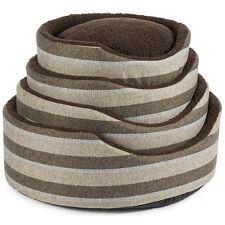 Ancol Stylish Tawny Stripe Pet Dog Oval Bed - 50cm 60cm 70cm 75cm Cosy Bedding