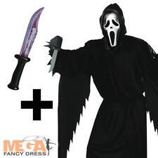 Official Scream Mens Fancy Dress Halloween Horror Adults Costume + FREE Knife