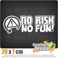 KIWISTAR No Risk No Fun Racing Rennsport Auto csf0855 20 x 7 cm Aufkleber