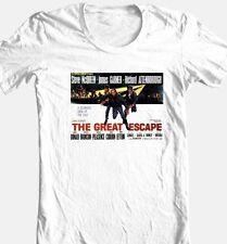The Great Escape T-shirt Steve McQueen vintage 70's movie 100% cotton tee