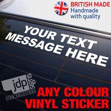 """su mensaje de texto"" Custom Vinilo Auto Adhesivo-any Colour-Funny Jdm Euro"