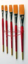 Munkacsy M7000p Synthetic Artists Acrylic Long Flat Brushes Various Sizes