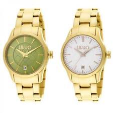 Reloj Mujer LIU JO Luxury TESS pulsera acero de oro blanco verde