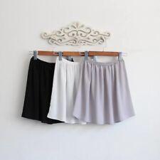 Lady Short Chiffon Shirt Extender Half Slips Skirts Underskirt Short Petticoat