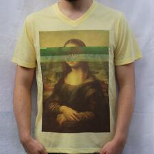 Mona Lisa - Leonardo da Vinci T shirt Glitch Design