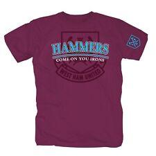 Hammers West Ham Irons ICF Hooligans Ultras Fans T-Shirt S-XXL burgundy