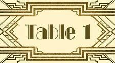 10 x great gatsby mariage personnalisé tableau numéro/place assise/guest cartes