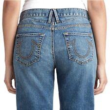 True Religion Women's Rumer Loose Relaxed Straight Boyfriend Jeans
