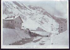 1908  -  SUISSE  VILLAGE DE GOPPENSTEIN APRES AVALANCHE