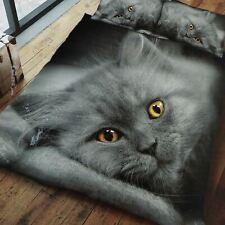 GREY KITTEN CAT DUVET COVER SET REVERSIBLE KIDS ADULTS - SINGLE & DOUBLE