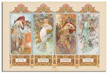 Alphonse Mucha 4 Seasons Art Nouveau Wall Poster New - Laminated Available