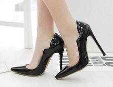 Tacón de aguja Zapatos zapatos de salón elegantes mujer perno 12 evento