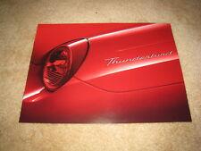 2002 Ford Thunderbird auto show sales brochure catalog literature