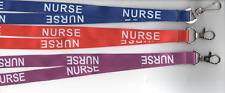 1 NURSE Printed Neck Strap Breakaway Safety Hospital Nursing Lanyard FREE UK P&P