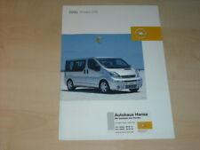 34648) Opel Vivaro Life Prospekt 2003