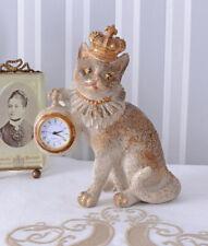 Tischuhr Katzenprinzessin Uhr Katze mit Krone Kaminuhr Kätzchen