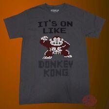 New Nintendo Donkey Kong 8-Bit Its on like Men's 1981 Vintage T-Shirt